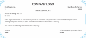 Shareholders Agreement & Share Certificate Template Uk | Dns intended for Share Certificate Template Companies House
