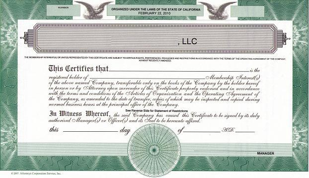 Should We Issue Llc Membership Certificates? - The High inside Llc Membership Certificate Template