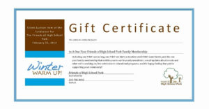 Silent Auction Gift Certificate Template Lovely Certificate with Silent Auction Certificate Template 10 Designs 2019