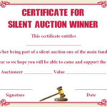 Silent Auction Winner Certificate Template: Explore Best With Best Silent Auction Certificate Template 10 Designs 2019