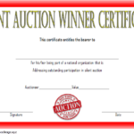 Silent Auction Winner Certificate Template Free 2 In 2020 Inside Silent Auction Certificate Template 10 Designs 2019