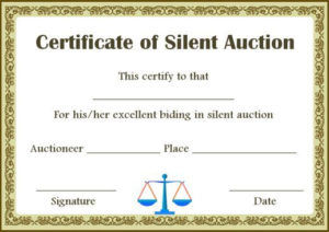 Silent Auction Winner Certificate Templates In 2020 | Silent within Silent Auction Certificate Template 10 Designs 2019