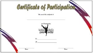 Simple Hip Hop Certificate Template Free (Participation) in New Hip Hop Dance Certificate Templates