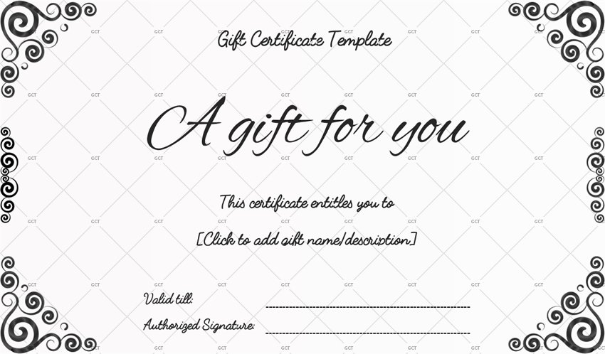 Sna Rounds Gift Certificate Template - For Word with regard to Black And White Gift Certificate Template Free