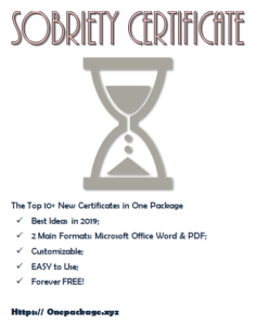 Sobriety Certificate Template Free | Certificate Templates with Best Certificate Of Sobriety Template Free