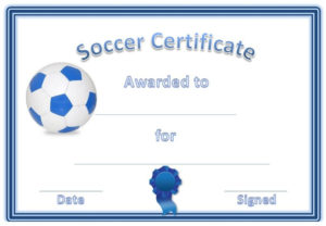 Soccer Award Certificates | Soccer Awards, Soccer, Award in Fresh Soccer Award Certificate Templates Free