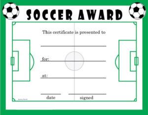 Soccer Award Certificates | Soccer Awards, Soccer Coaching throughout Soccer Award Certificate Template