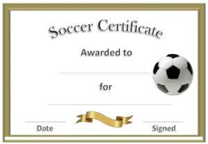 Soccer Award Certificates | Soccer Awards, Soccer for Best Soccer Certificate Template Free