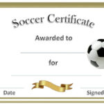 Soccer Award Certificates | Soccer Awards, Soccer pertaining to New Soccer Achievement Certificate Template