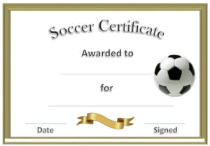 Soccer Award Certificates | Soccer Awards, Soccer With Soccer Certificate Template
