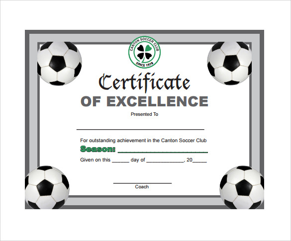 Soccer Certificate Template Free (12) - Templates Example with Soccer Award Certificate Template