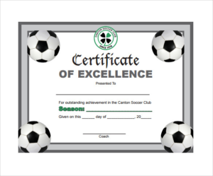 Soccer Certificate Template Free (12) – Templates Example with Soccer Award Certificate Template