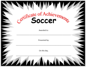 Soccer Certificate Template – Microsoft Word Templates in Soccer Certificate Templates For Word