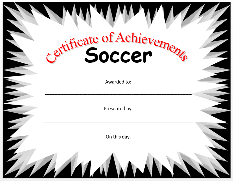Soccer Certificate Template - Microsoft Word Templates in Soccer Certificate Templates For Word