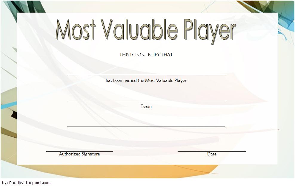 Soccer Mvp Certificate Template Free 1 In 2020 | Certificate throughout Best Soccer Mvp Certificate Template