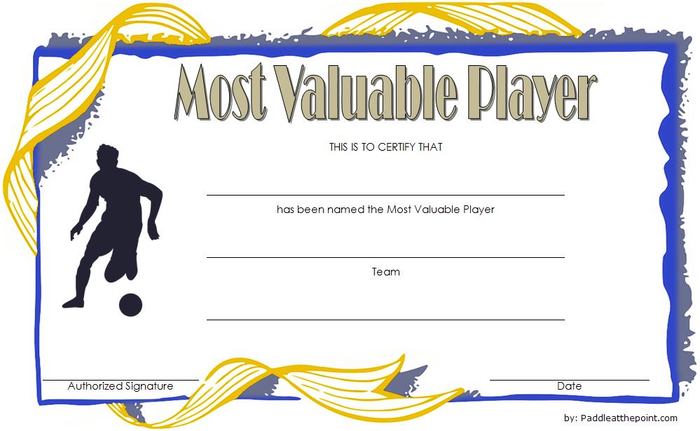 Soccer Mvp Certificate Template Free 3 | Certificate within Best Soccer Mvp Certificate Template