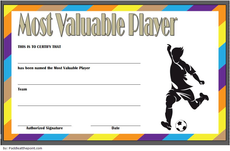 Soccer Mvp Certificate Template Free 4 | Certificate with regard to Soccer Mvp Certificate Template