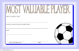 Soccer Mvp Certificate Template Free 6 In 2020 | Certificate for Best Soccer Mvp Certificate Template