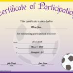 Soccer Participation Certificate Printable Certificate in Soccer Certificate Template Free 21 Ideas