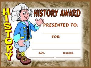 Social Studies Award Certificates for Social Studies Certificate