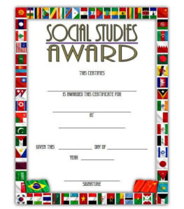 Social Studies Certificate Template 5 Free pertaining to Editable Certificate Social Studies