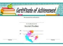 Social Studies Certificate Template 8 Free | Social Studies for Editable Certificate Social Studies