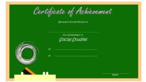 Social Studies Certificate Template 9 Free | Social Studies Inside New Social Studies Certificate Templates