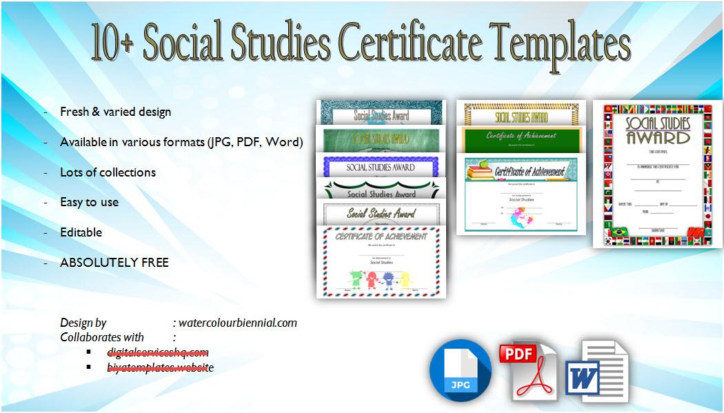Social Studies Certificate Templates Free Editable with regard to Editable Certificate Social Studies