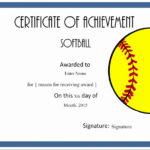 Softball Award Certificate Template Lovely Printable Award With Unique Softball Award Certificate Template