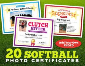 Softball Award Certificates | Templates | Coaching Forms intended for Unique Softball Award Certificate Template