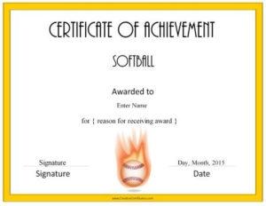 Softball Awards | Softball Awards, Baseball Award, Softball regarding Softball Certificate Templates Free