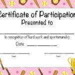 Softball Certificate Of Achievement – Softball Award – Print Throughout Free Softball Certificates Printable 10 Designs
