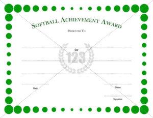 Softball #Certificate #Template | Certificate Templates pertaining to Best Free Softball Certificates Printable 10 Designs