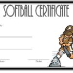 Softball Certificate Template Free (1St Version) In 2020 Pertaining To Free Softball Certificates Printable 10 Designs