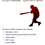 Softball Certificates Printable Free In 2020 | Office Word For Best Free Softball Certificates Printable 10 Designs