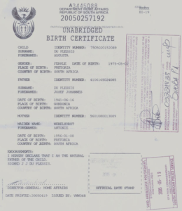 South African Birth Certificate Template (13) – Templates in Unique South African Birth Certificate Template