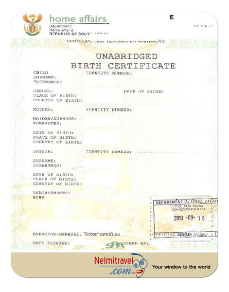 South African Birth Certificate Template | Birth Certificate throughout South African Birth Certificate Template