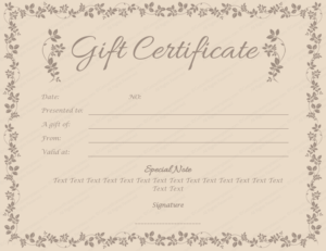 Spa Day Gift Certificate Template (5) – Templates Example within New Spa Day Gift Certificate Template