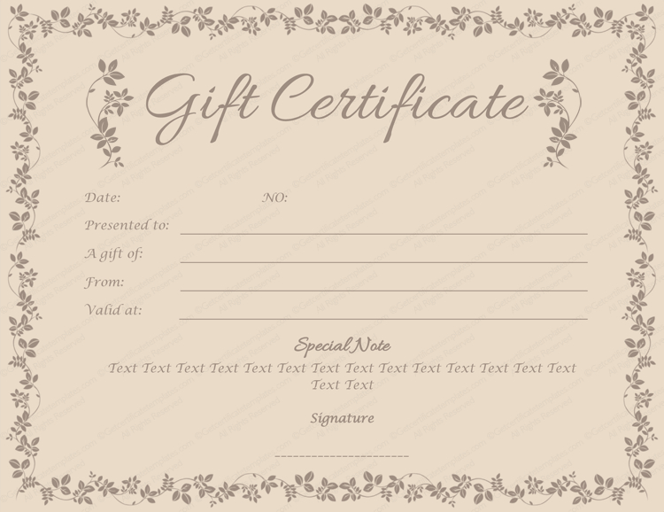 Spa Day Gift Certificate Template (5) - Templates Example within New Spa Day Gift Certificate Template