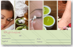 Spa Day Gift Certificate Template in Spa Day Gift Certificate Template