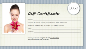 Spa Gift Certificate Template For Ms Word | Document Hub in New Spa Day Gift Certificate Template