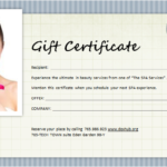 Spa Gift Certificate Template For Ms Word | Document Hub Pertaining To Free Spa Gift Certificate Templates For Word