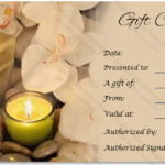 Spa Gift Certificate Templates Intended For New Free Spa Gift Certificate Templates For Word