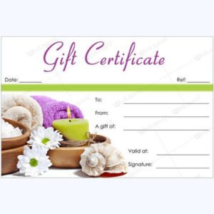 Spa Gift Certificate Templates #Spa #Gift #Certificate throughout Massage Gift Certificate Template Free Printable
