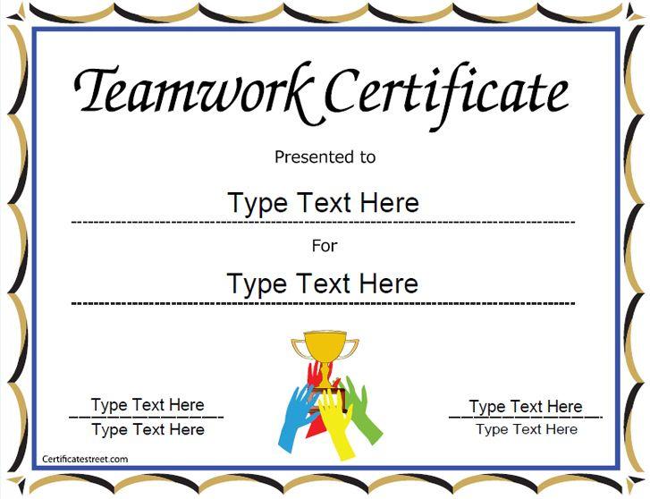 Special Certificate - Team Work Certificate throughout Fresh Free Teamwork Certificate Templates