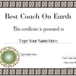 Special Certificates – Best Coach Ever   Certificatestreet With Regard To Best Best Coach Certificate Template