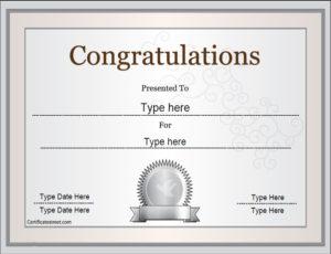 Special Certificates – Congratulations Certificate regarding Superlative Certificate Template