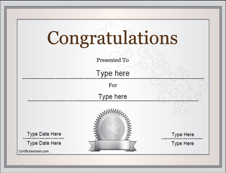 Special Certificates - Congratulations Certificate regarding Superlative Certificate Template
