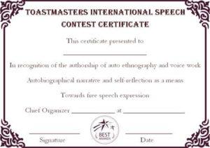 Speech Contest Winner Certificate Template: 10 Free Pdf in Quality Contest Winner Certificate Template