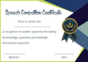 Speech Contest Winner Certificate Template: 10 Free Pdf inside Quality Contest Winner Certificate Template